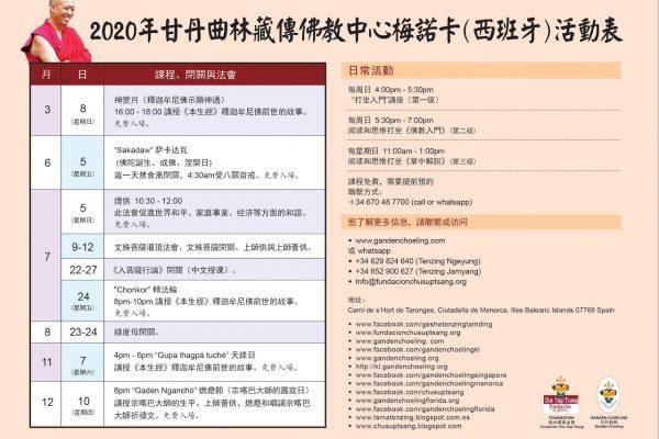ACTIVIDADES MENORCA 2020 CHINO