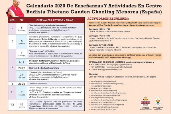 ACTIVIDADES MENORCA ESPAÑOL